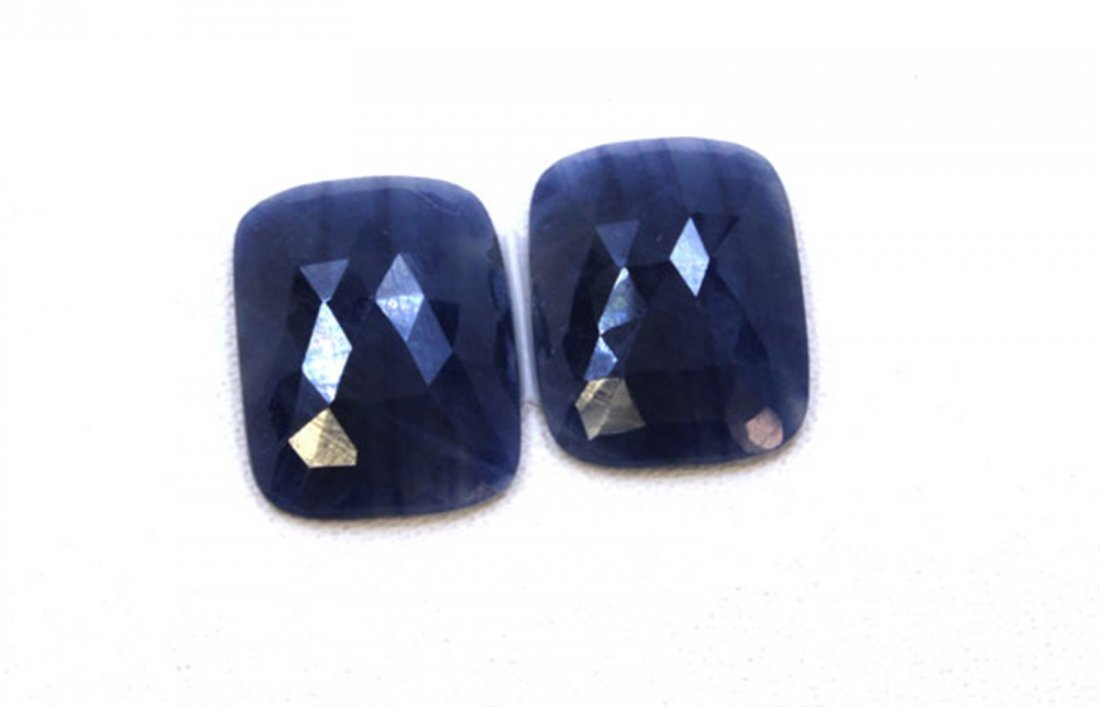 22 ct & up Natural Sapphire Slice Rose Cut Loose Stone