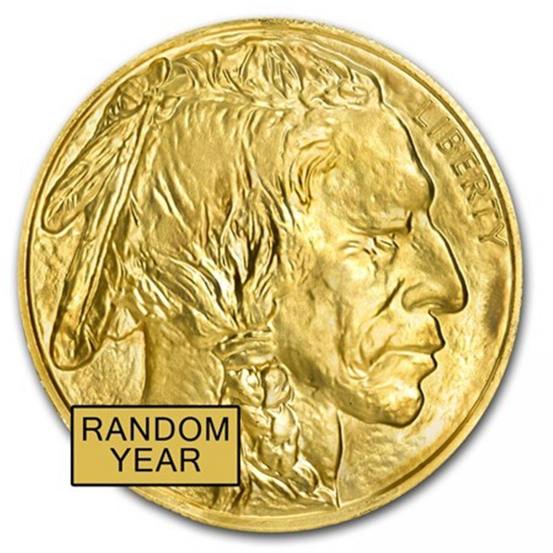 1 oz Gold Buffalo BU (Random Year)