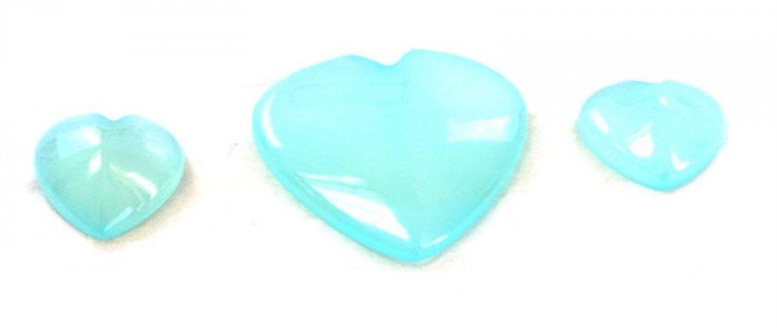 57 ct & up Chalcedony Heart Shaped ctw 3Pcs