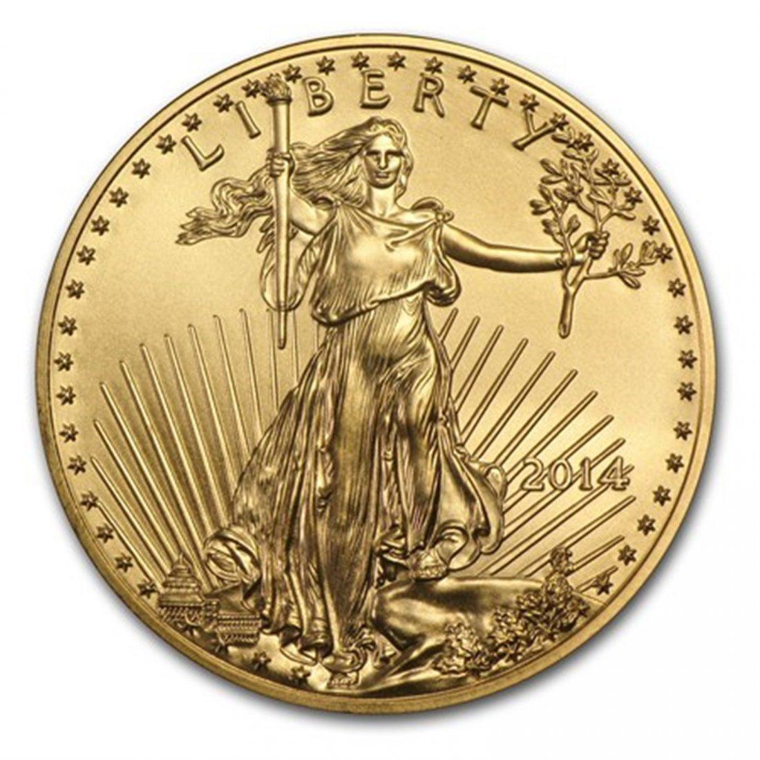 2014 1 oz Gold American Eagle BU