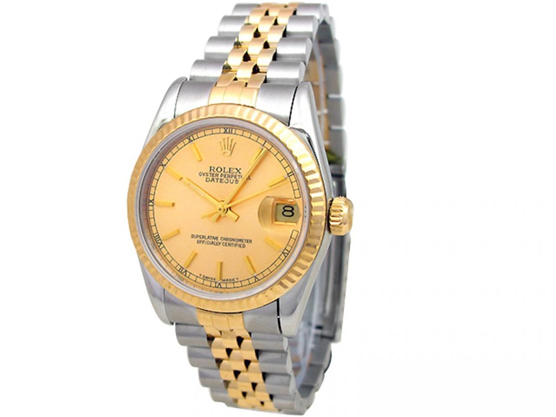 31mm Rolex 18k Gold & Stainless Steel Oyster Perpetual