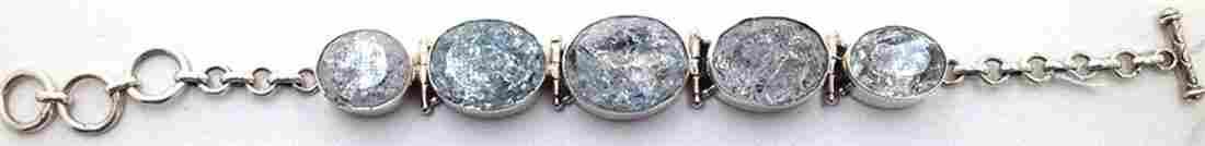 Sterling Silver .925 Vintage Quartz Bracelet