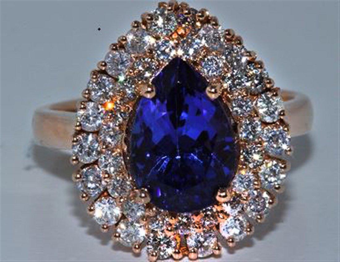 Tanzanite w/ Diamond Ring   Tanzanite 3.12ct