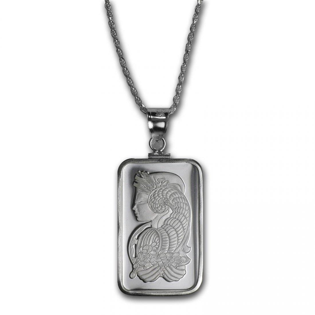 10 gram Silver - Pamp Suisse Fortuna Pendant (w/Chain)