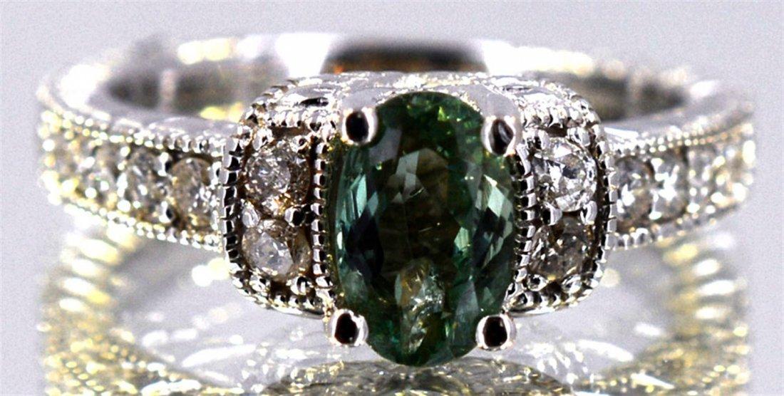 Alexandrite  1.58 ctw Diamond Ring 14KW