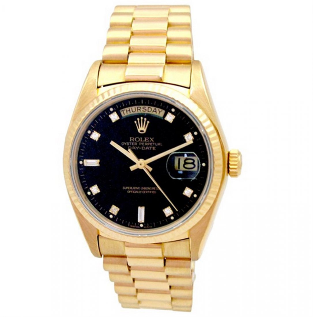 36mm Gents Rolex 18k Yellow Gold Oyster Perpetual