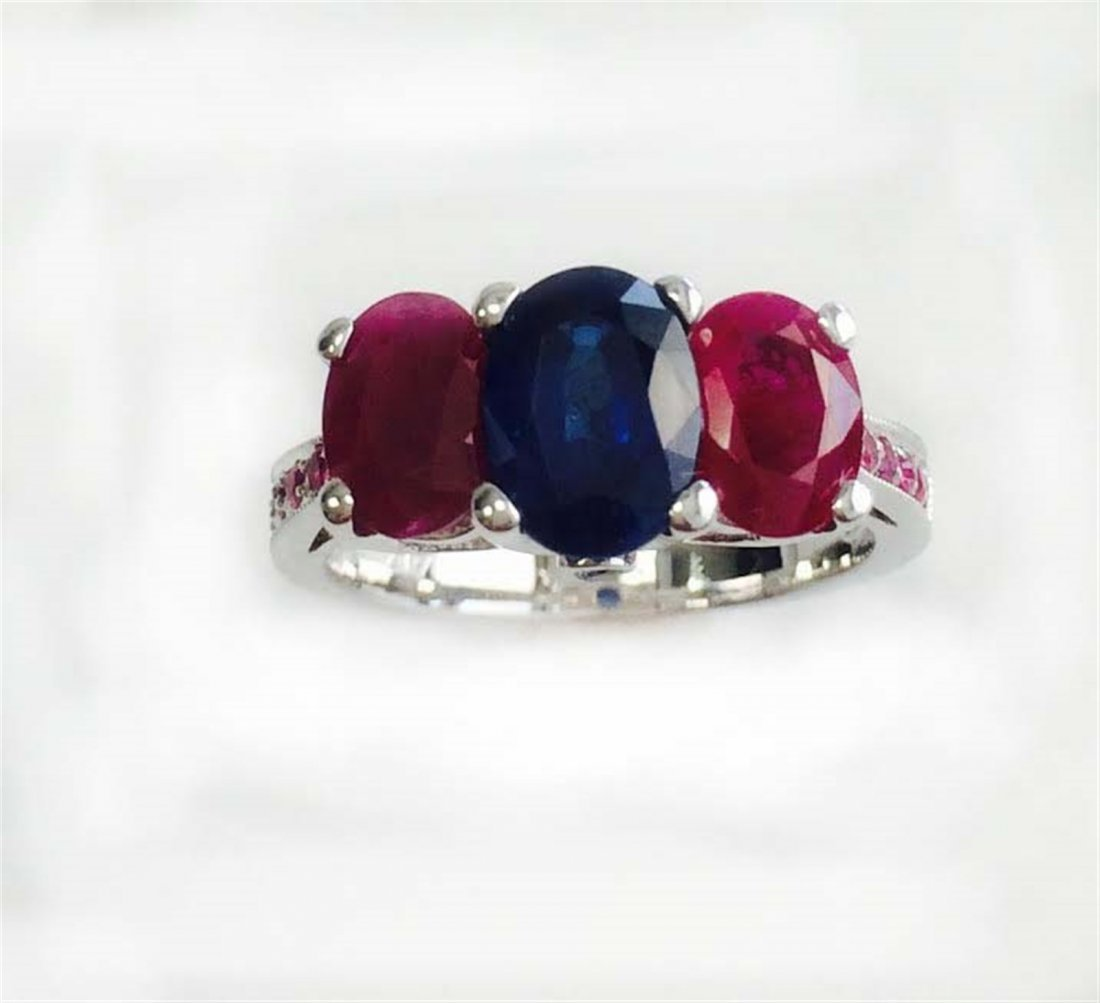 PINK SAPPHIRE 0.13CT / RUBY 2.11CT / BLUE SAPPHIRE
