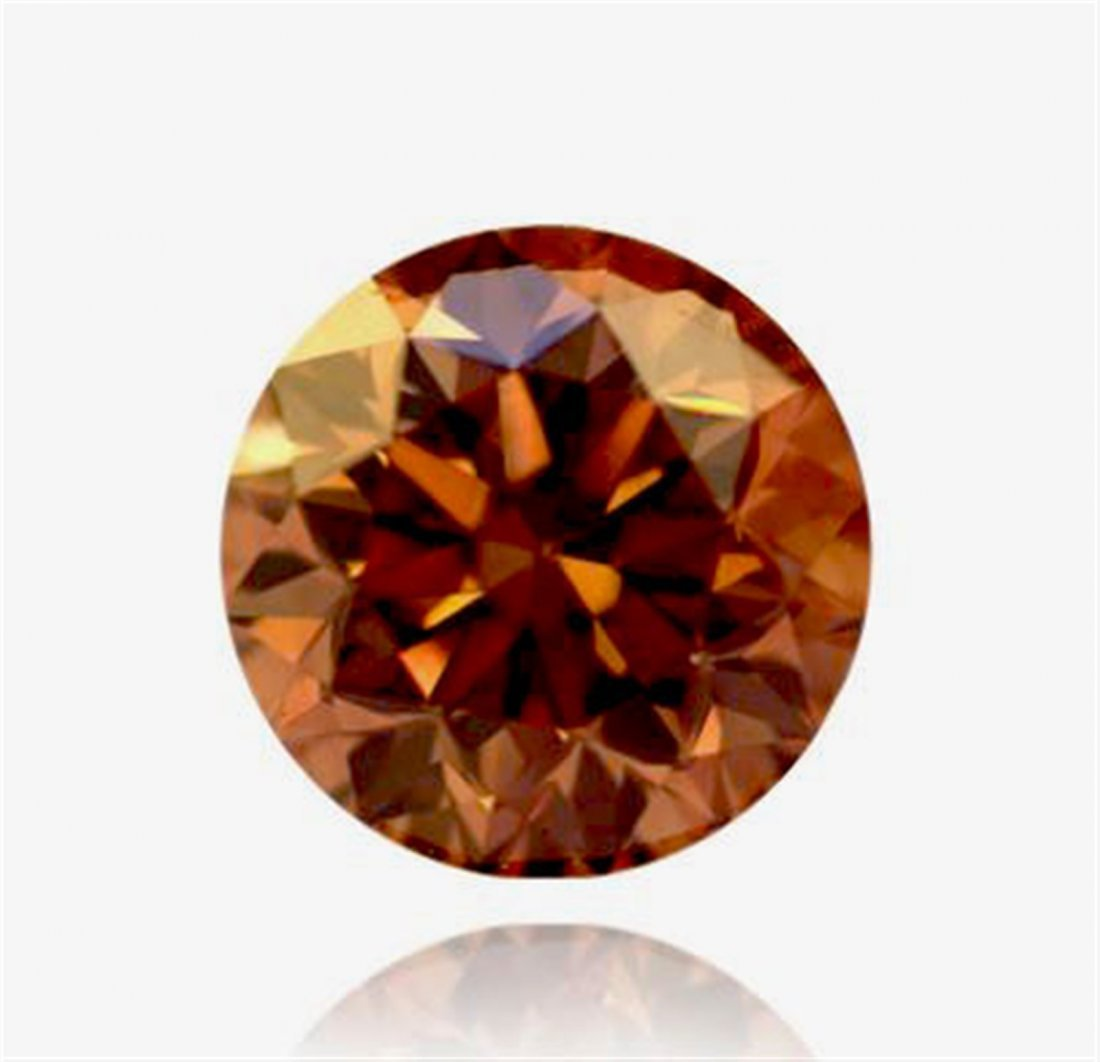 2 ct & up Fancy Dark Brown Round Brilliant  SI1