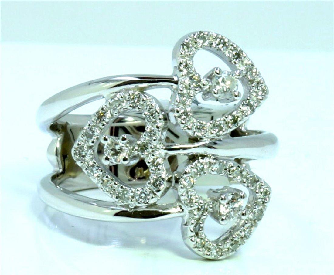 14K WHITE GOLD RING 6.20GRAM / DIAMOND 0.40CT GH COLOR