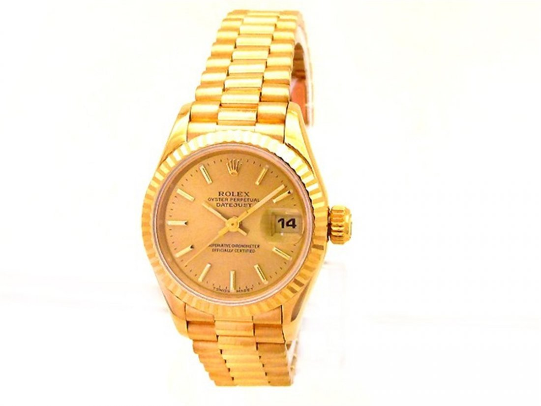 31mm Midsize Rolex 18k Yellow Gold Oyster Perpetual