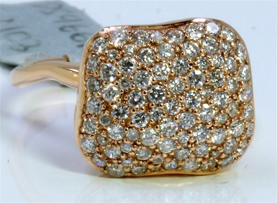 14K ROSE GOLD RING 4.40GRAM DIAMOND 1.15CT