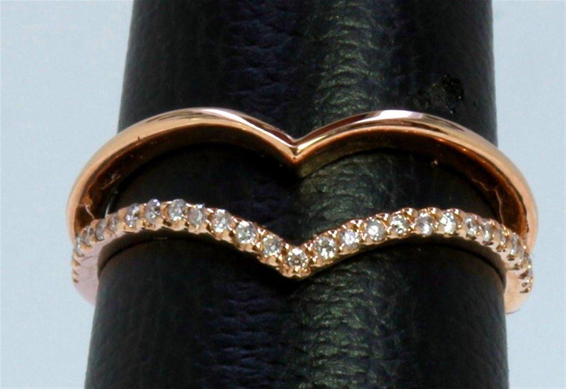 14K ROSE GOLD RING 2.46GRAM DIAMOND 0.12CT