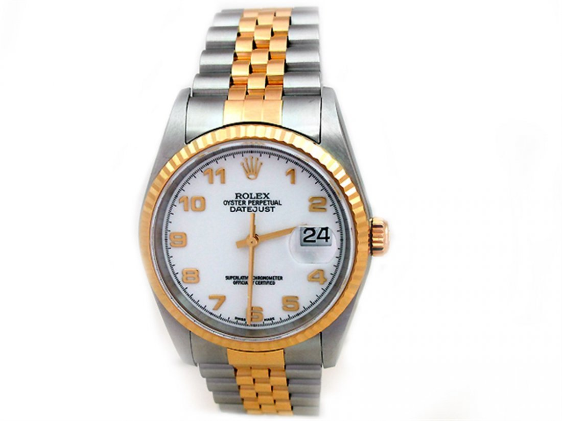 36mm Rolex 18k Gold & Stainless Steel Oyster Perpetual