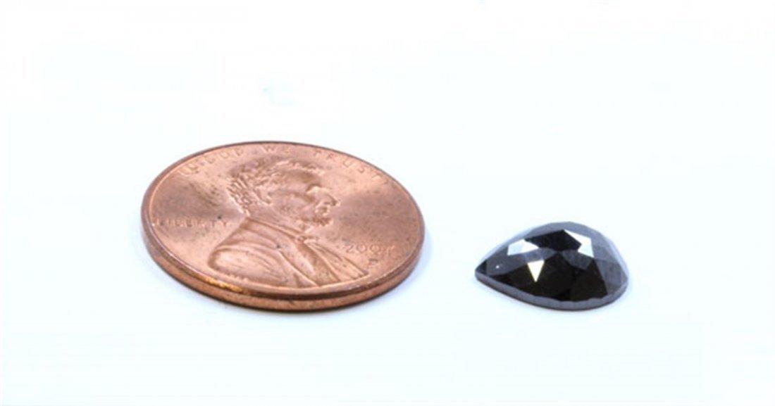 2 ct & up Treated Black Diamond Pear Shaped
