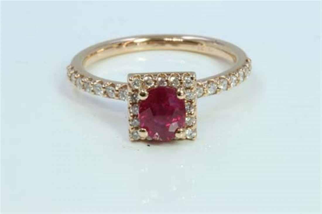 Natural Ruby 0.99ct   Diamond 0.32ct