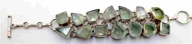 Sterling Silver 925 Vintage Smokey Quartz Bracelet