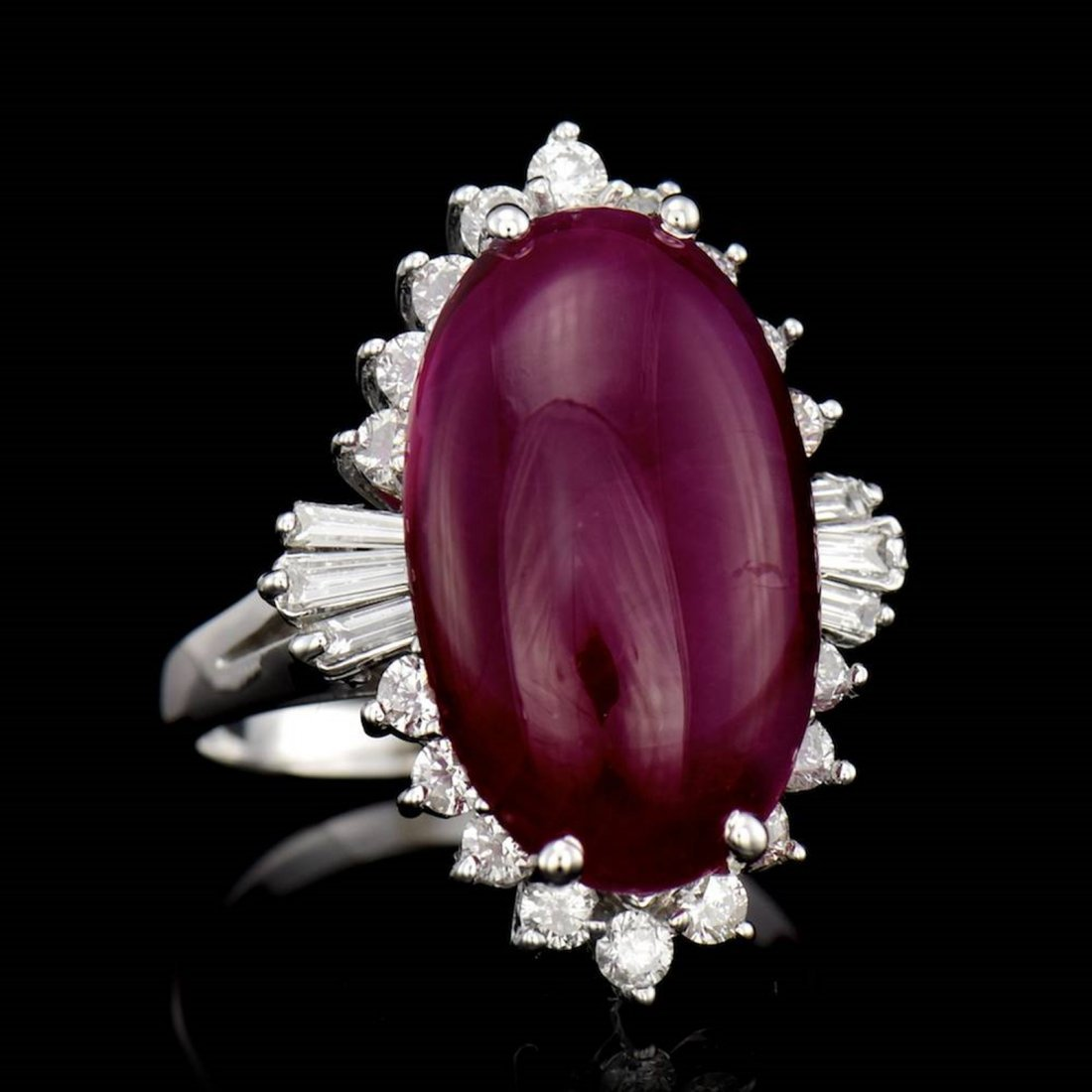 ONE CENTER OVAL SHAPE NATURAL CABOCHON RUBY TW 11.48CTS