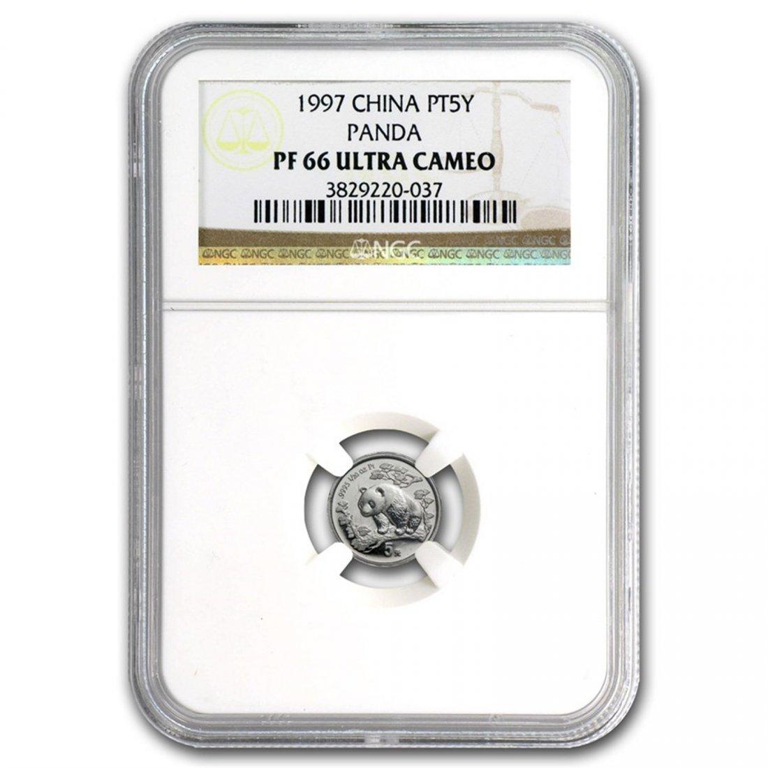 1997 China 1/20 oz Proof Platinum Panda PF-66 NGC