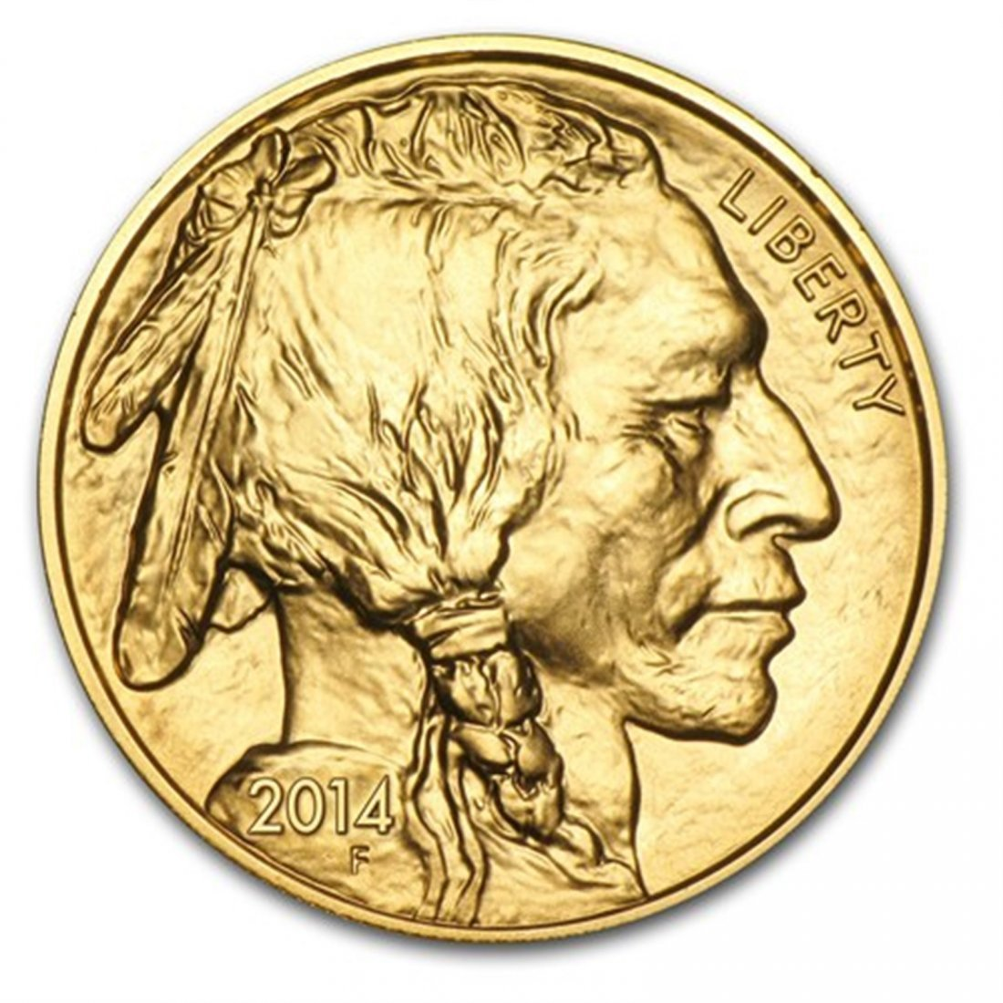 2014 1 oz Gold Buffalo BU
