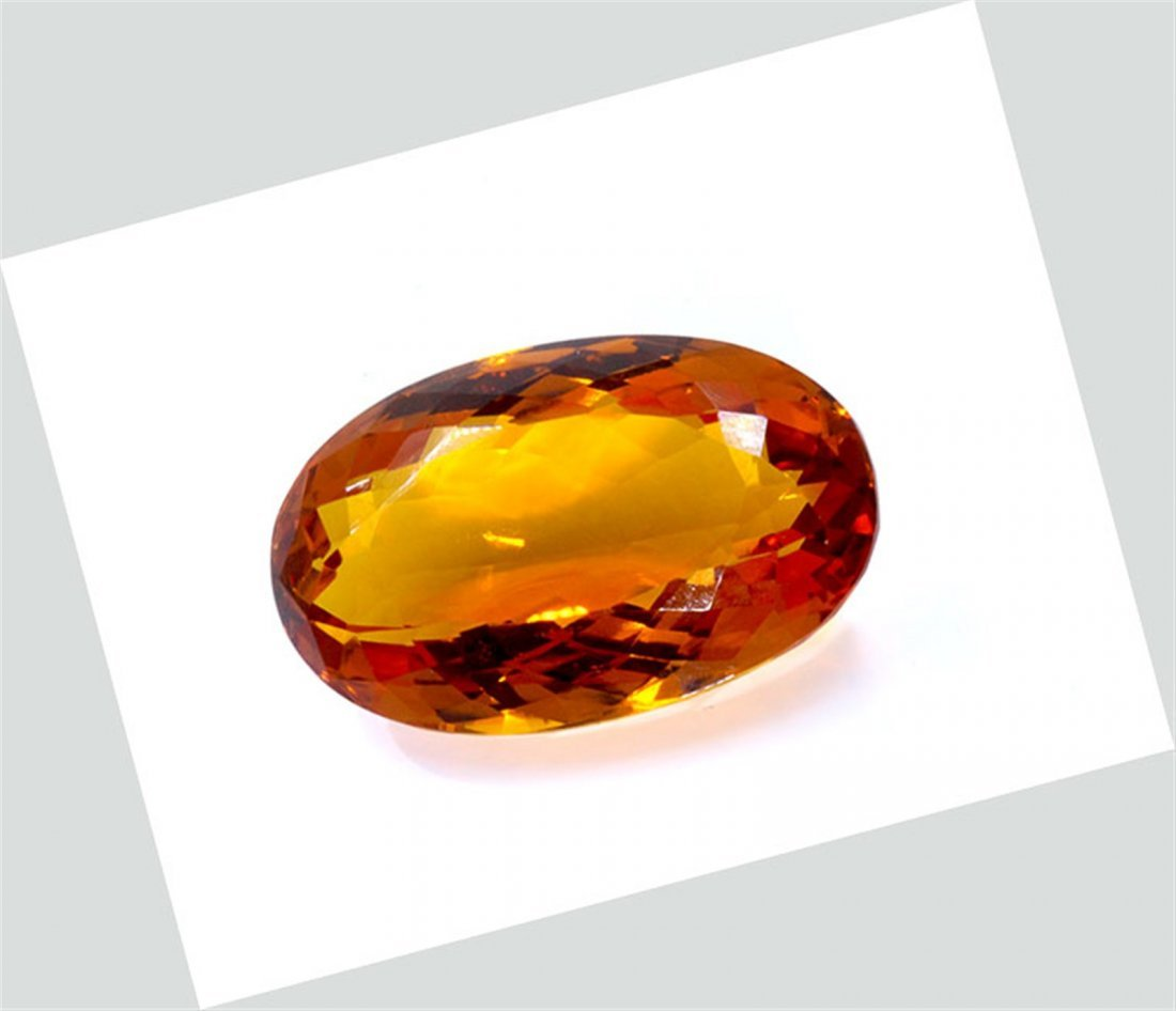 158 ct & up Mandarin Citrine Oval Faceted