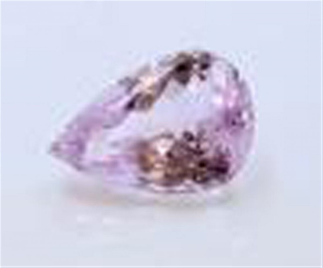88.10 ct & up KUNZITE PEAR CUT faceted