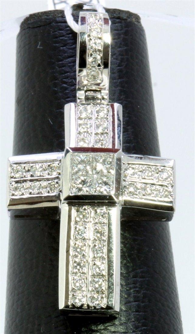 14K WHITE GOLD PENDANT 7.00GRAM  DIAMOND 0.65CT