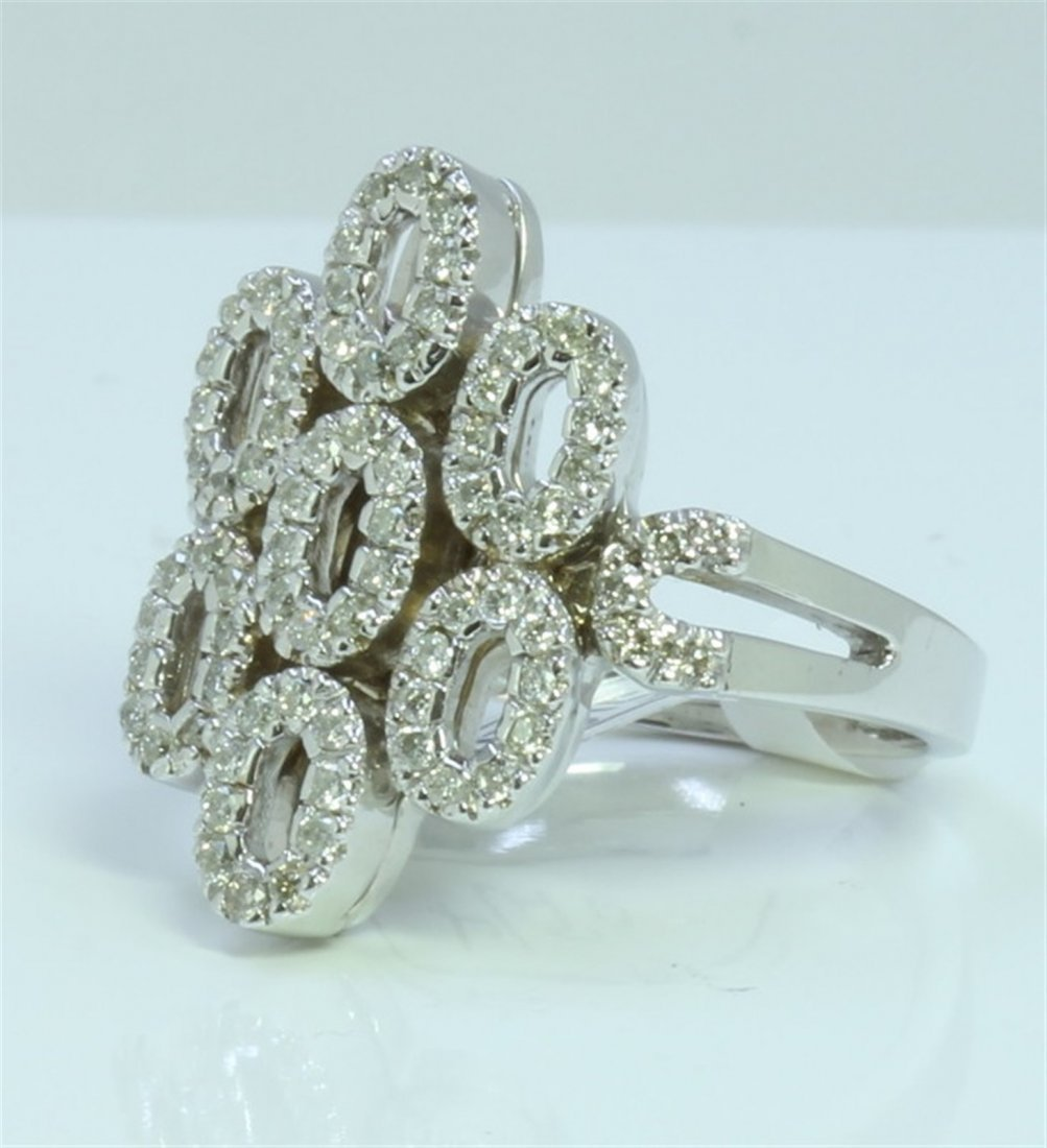 14K WHITE GOLD RING 7.91 GRAM  DIAMOND 0.57CT
