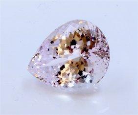 106 Ct & Up Kunzite Pear Shaped Loose Stone
