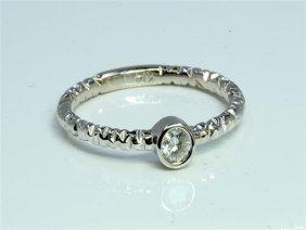 Diamond 0.09 Ct Ring 14kt White Gold 1.77 Gr