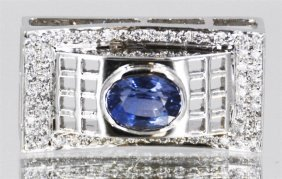 14kt Handcrafted Blue Sapphire Pendant