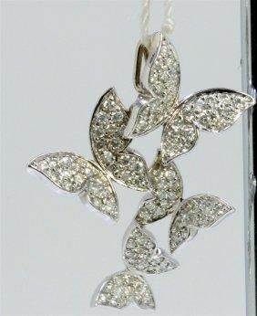 14k White Gold Pendant 2.70gram Diamond 0.69ct