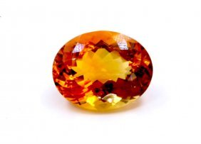 67 Ct & Up Citrine Oval Shaped Loose Stone