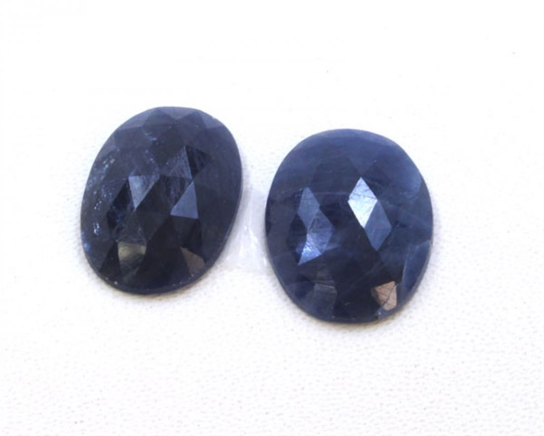 17 ct & up Natural Sapphire Slice Rose Cut Loose Stone