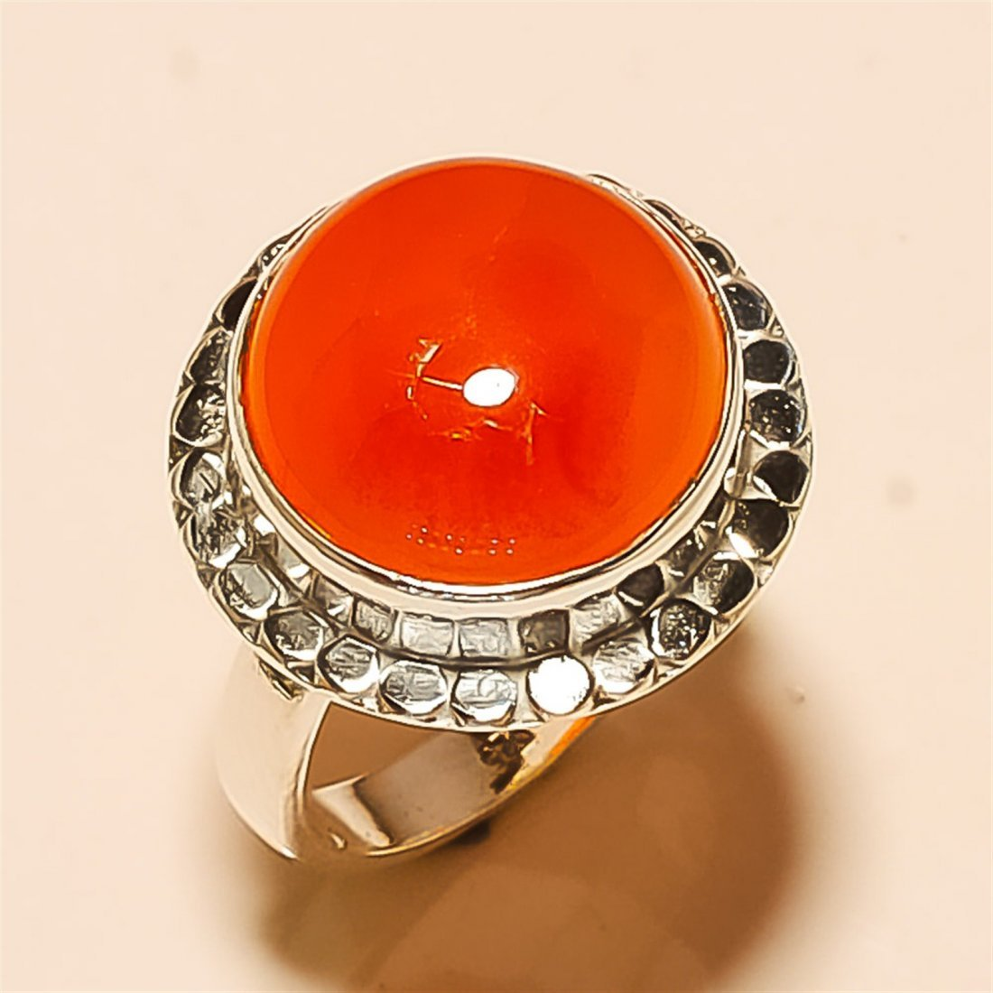 Carnelian RING Solid Sterling Silver