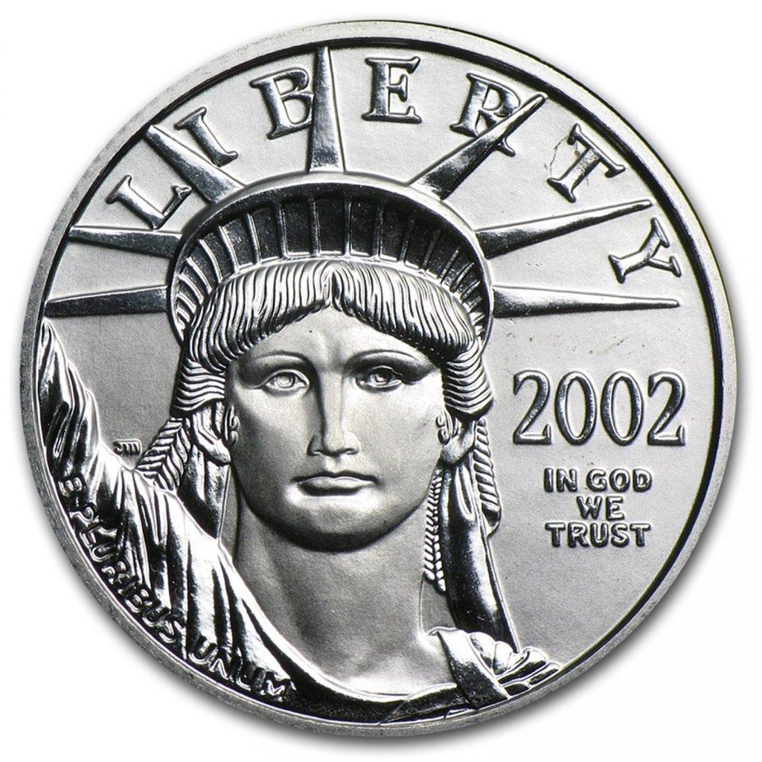 2002 1/4 oz Platinum American Eagle BU