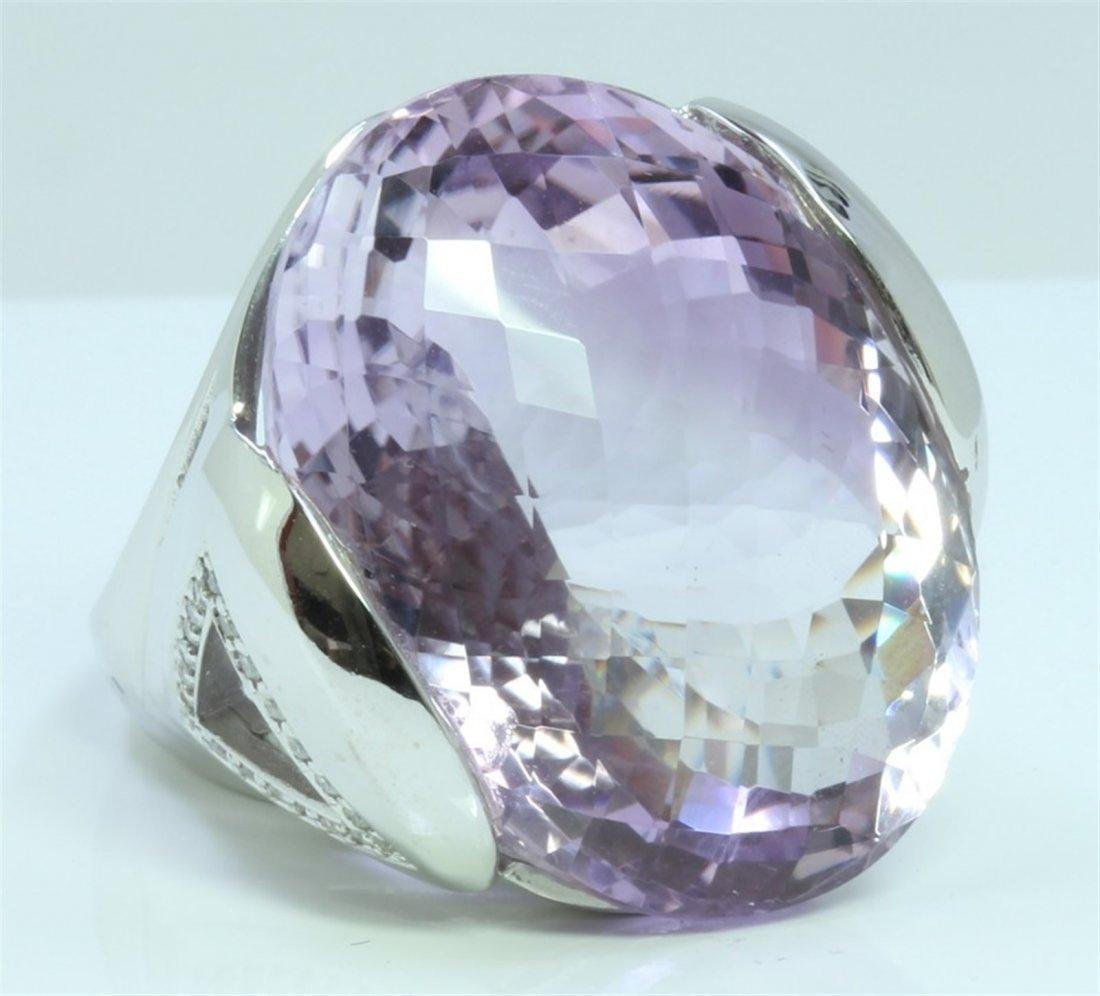 14K : 16.5g/Diamond : 0.29ct/Amethyst : 52.89ct