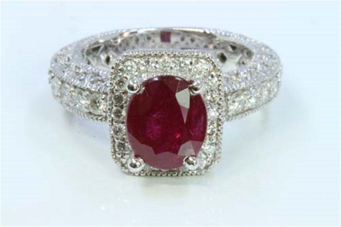 Ruby 3.05ct   Diamond 1.22ct