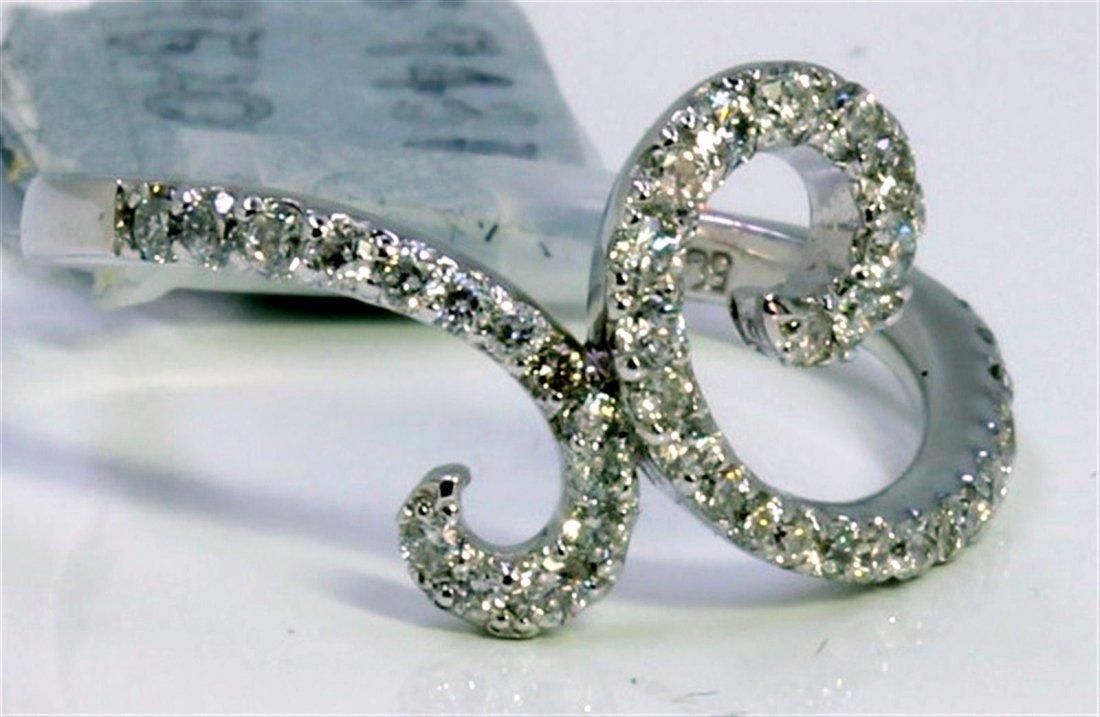 14K WHITE GOLD RING 2.30GRAM  DIAMOND 0.54CT