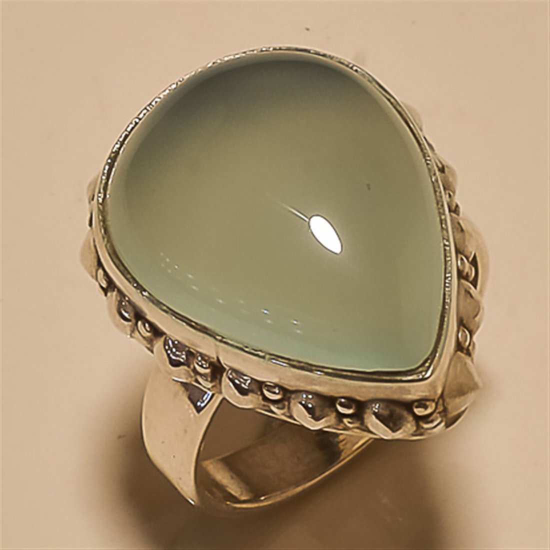 Chalcedony RING Solid Sterling Silver