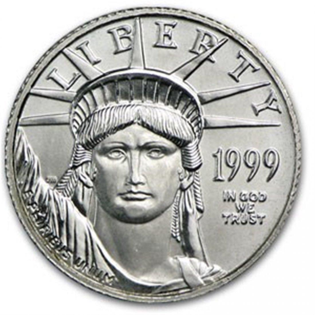 1999 1/10 oz Platinum American Eagle BU