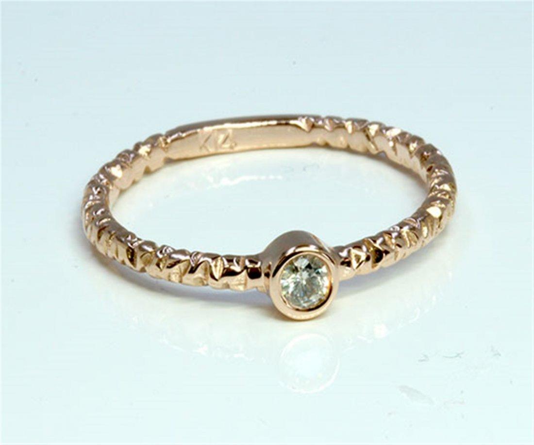 Diamond 0.16 ct Ring 14Kt Rose Gold 1.90 gr