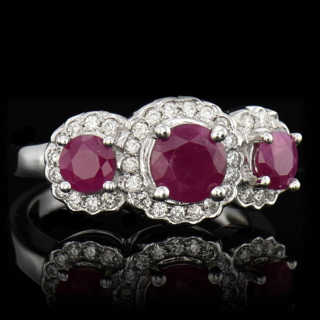 3 PCS ROUND CUT BURMA COLOR NATURAL RUBY TW 1.87CTS