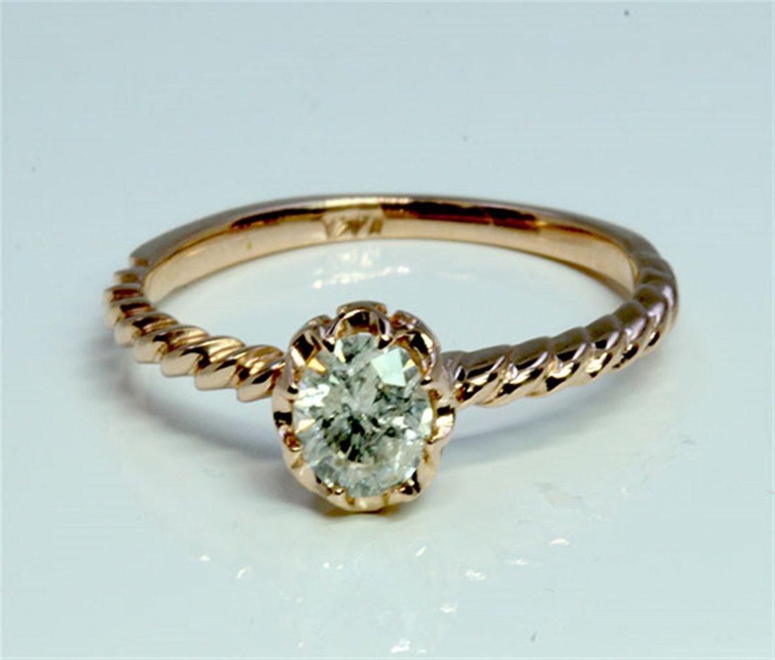 Diamond 0.38 ct Ring 14Kt Rose Gold 1.54 gr