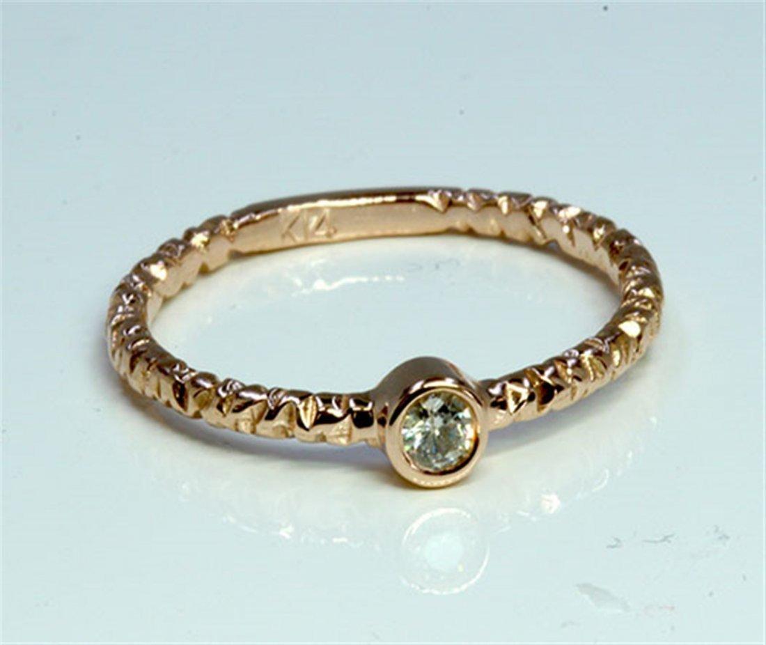 Diamond 0.17 ct Ring 14Kt Rose Gold 1.87 gr