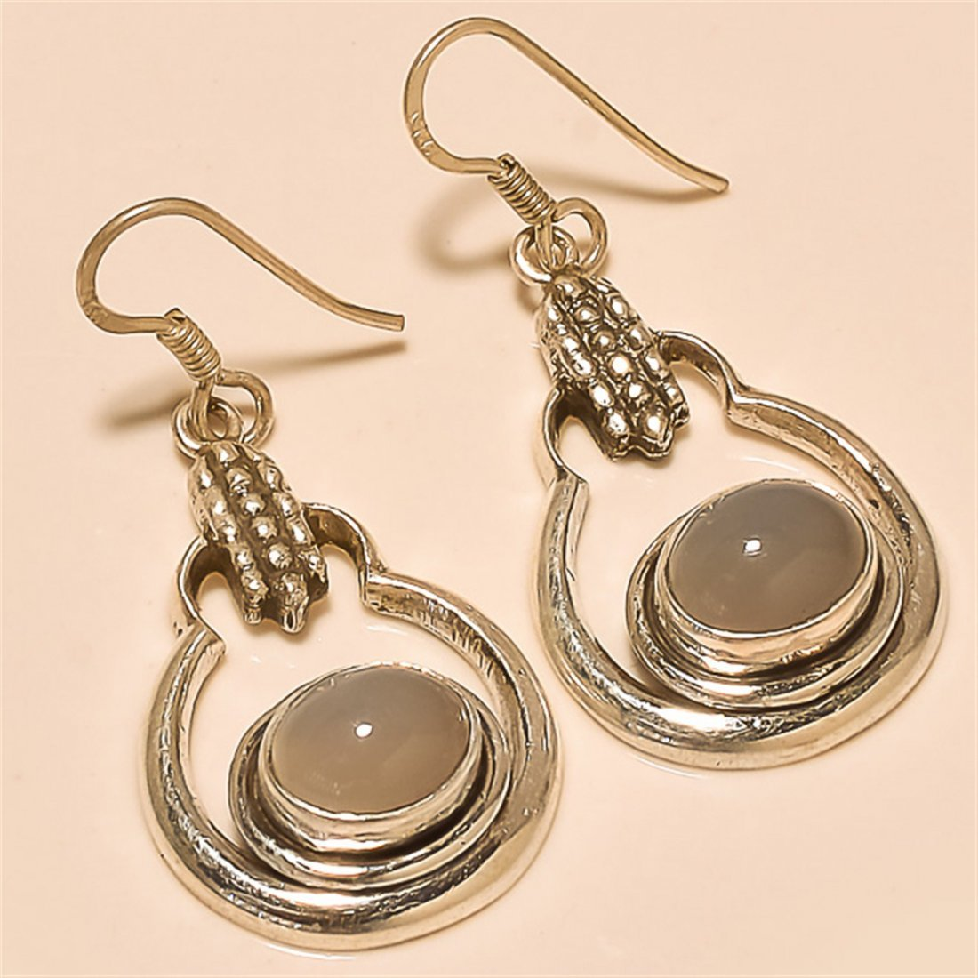 Moonstone Earring Solid Sterling Silver