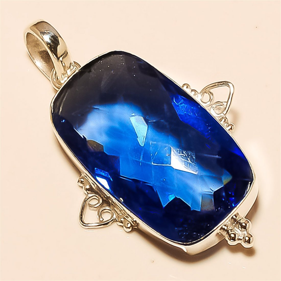 Iolite Pendant Solid Sterling Silver