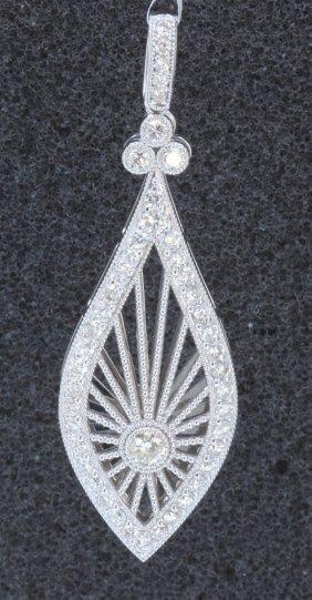 18k White Gold Diamond Pendant:5.20