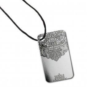 Chantilly Lace - 10 Gram Silver Pamp Ingot Pendant