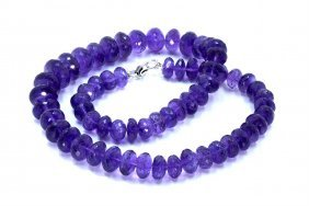 650 Ct & Up Amethyst Faceted Vintage Smooth Rondelle