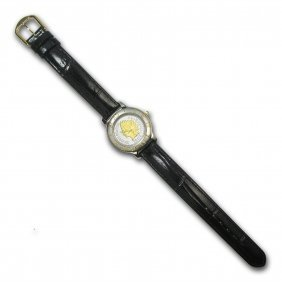 Ladies Us Indian Head Penny Watch - Leather Bracelet